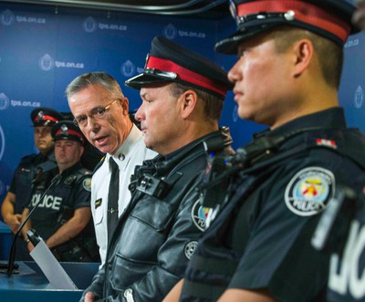 Toronto Police Service  Staff. Supt. Tom Russell  announces the body-worn cameras pilot project at police headquarters in Toronto, Ont.  on Friday May 15, 2015. Ernest Doroszuk/Toronto Sun
