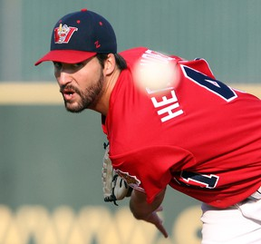 Nick Hernandez was the American Association's pitcher of the year in 2014 so it's no surprise he's getting the ball for the team's season opener in 2015.