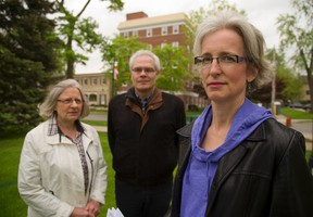 """It?s just a flagrant disregard for how the city is planned for intensification."" Mary Ann Hodge, shown in the photo with Janet Menard, left, and Garth Webster (MIKE HENSEN, The London Free Press)"