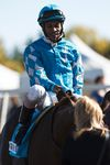 Rico Walcott, shown here at the Fall Classic last September, rode Rock and Glory to the win in the Wild Rose Stakes on Saturday at Northlands. (Ian Kucerak, Edmonton Sun)