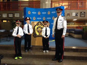 Edmonton Police Chief Rod Knecht was bumped to fourth in command Tuesday, making way for three new chiefs all under the age of 10. Pamela Roth/Edmonton Sun