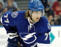 Tampa Bay Lightning defenceman Victor Hedman during the first period against the Detroit Red Wings at Amalie Arena on March 20, 2015. (Kim Klement/USA TODAY Sports)