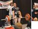 Conor Paquette (left), a Grade 11 Glenmary student and Adrian Demetrow (right), a Grade 10 Glenmary student, both brought home a gold medal from the Strive Alive Powerlifting Competition in Calgary, on Saturday, May 2. Supplied photos