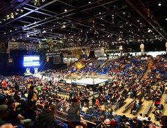 The crowd begins to fill the San Jose University Event Centre during WrestleMania week in San Jose in March. (Mike Mastrandreas/SLAM! Wrestling)