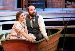 Jessica Ducharme plays Sally Talley and Johnny Bobesich plays Matt Friedman in Talley?s Folly, the Pulitzer Prize winning play presented by the London Community Players and directed by Don Fleckser at The Palace Theatre. (CRAIG GLOVER, The London Free Press)