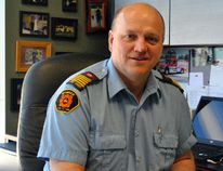 Morden Fire Chief Andy Thiessen took a moment to reflect on the changes, and memories, that you get from having a fire fighting career that spans over three decades. (ANDREW PRUDEN/Morden Times)