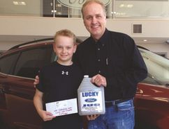 This year, Earl's son Jim continued the tradition in his dad's memory, presenting Caden Krahn with the prize.