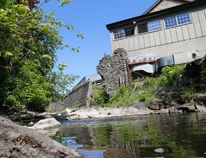 The gap between banks on Buell's Creek are slated to be connected later this summer to complete a missing link on the Brock Trail. (DARCY CHEEK/The Recorder and Times)