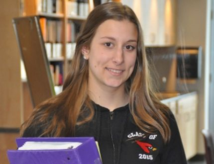 Photo supplied St. Charles College student Lisa Ludwig has overcome daunting challenges to excel academically and earn a full scholarship through Laurentian University.