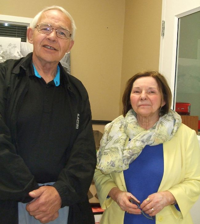 John DeMars speaks with Krystyna Stalmach following her presentation at the Sombra Museum in April. Stalmach spoke about her project commemorating the sacrifices of Lambton-area Polish war veterans entitled Our History, Our Heroes: Polish War Veterans — From Fighting Wars to Farming Fields in Lambton. (HANDOUT/ SARNIA OBSERVER/ POSTMEDIA NETWORK)