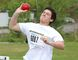Eric Paquette, of College Notre-Dame, competes in the senior boys shot put event at the local high school track and field championships at the track at Laurentian University on Thursday. John Lappa/Sudbury Star
