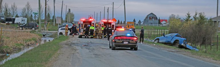 Scene of crash incident on Shirley Street in Timmins on Monday May 18th, 2015. Postmedia / LOCAL NEWS photo by Len Gillis