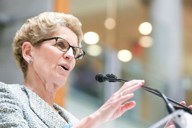 Premier Kathleen Wynne speaks at Baycrest Health Sciences on May 22, 2015. (Veronica Henri/Toronto Sun)