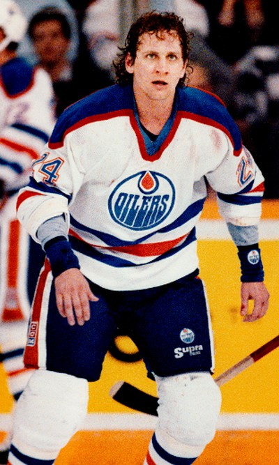 Edmonton Oilers Kevin McClelland tough guy was traded along with Jimmy Carson to the Detroit Red Wings for Adam Graves, Petr Klima, Joe Murphy and Jeff Sharples on November 2, 1989. Edmonton Sun/Post Media