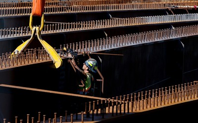These griders just keep grinding along. Crews continue to work on replacing girders on the 102 Avenue Bridge over Groat Road, in Edmonton, Alta. on Monday May 18, 2015. David Bloom/Edmonton Sun/Postmedia Network