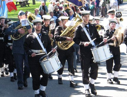 The Sea Cadet band leads the way at the start of the Ceremonial Walk, at the Children's Treatment Centre Bike-A-Thon Plus in Cornwall, on Saturday. Todd Hambleton/Cornwall Standard-Freeholder/Postmedia Network