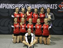 PHOTO SUPPLIED The GPRC Wolves U18 girl's volleyball team went 1-2 in the Division III round-robin and then lost 2-0 to FOG Fusion in Tier IV gold medal game at the 2015 Volleyball Canada Championships in Calgary on May 14-19. The team, coached by Jenice Warkentin and Jessica Winterford, includes Brynelle Barrs, Jada Beck, Jaden Cross, Katrina Dawe, Makan Espe, Lauren Lauze, Gabriela Podolski, Kirsten Rodacker, Kalie Rogan, Amie Slawson, Sydney Willams and Kacie Haire.