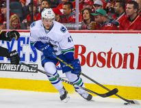 Sven Baertschi scored late but the Utica Comets fell short in a 4-2 loss to Grand Rapids in Game 2 of their AHL Western Conference final series on Monday. REUTERS