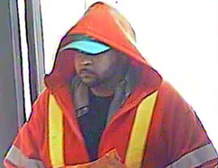 Adam Bembridge was arrested in Peterborough following bank robberies in Tweed and Whitby. A video surveillance image of the Tweed bank robber.