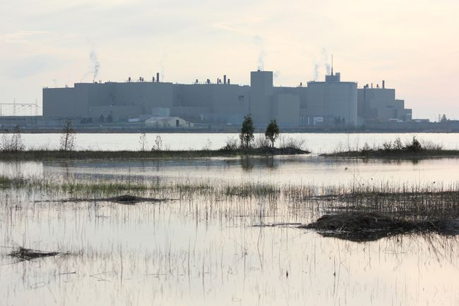 Bruce Power as viewed from the Lake Huron shoreline at Baie du Dore. (TROY PATTERSON/KINCARDINE NEWS)