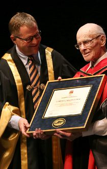 Clarence Hollingworth Honorary Bachelor of Science degree