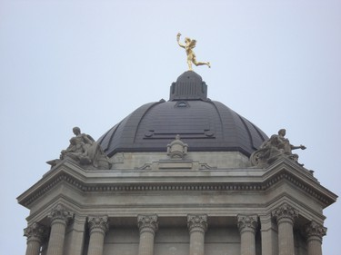 It's Winnipeg! The Golden Boy - official name Eternal Youth - is located at the top of the Manitoba Legislative Building. (Fotolia)