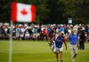 """American Brandt Snedeker and his caddy Scott Vail approach the 18th green during the 2013 Canadian Open at Glen Abbey, which he won. Golf Canada CEO Scott Simmons says discussions are taking place regarding the possibility of re-establishing a """"semi-permanent or permanent"""" site for Canada's lone PGA Tour stop. (REUTERS/PHOTO)"""