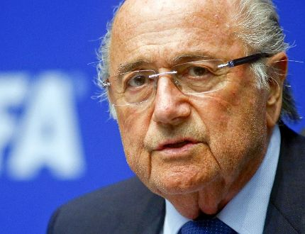 FIFA president Sepp Blatter announced at a news conference that he will quit his post days after winning re-election. (Arnd Wiegmann/Reuters/Files)