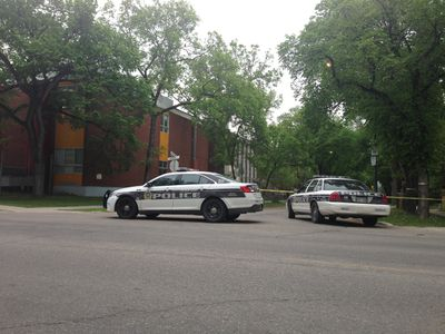 Police were on scene at Kelvin High School June 2, 2015 for a reported stabbing.
