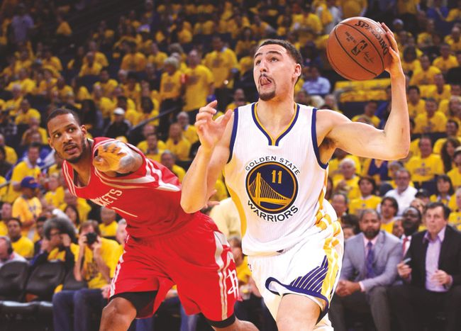 Golden State Warriors guard Klay Thompson is fit for Game 1 after suffering a concussion against the Houston Rockets. (USA TODAY SPORTS)