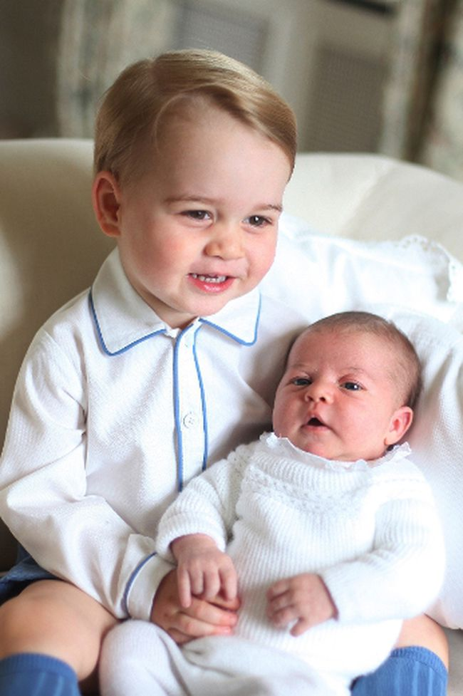 Prince George and Princess Charlotte are seen in this undated handout photo taken by Catherine, Duchess of Cambridge, in May 2015 at Anmer Hall in Norfolk and released June 6, 2015. (Duchess of Cambridge/Handout via Reuters)
