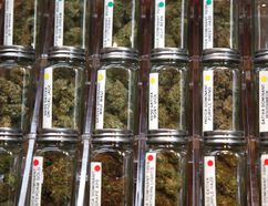 Products in a pot dispensary. REUTERS
