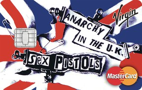 The Sex Pistols-branded credit card.