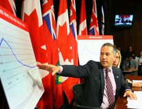 Hydro One President and CEO Carm Marcello responds to the Ontario Ombudsman's report on Hydro One at Queens Park in Toronto, Ont. on Monday May 25, 2015. Dave Abel/Postmedia Network