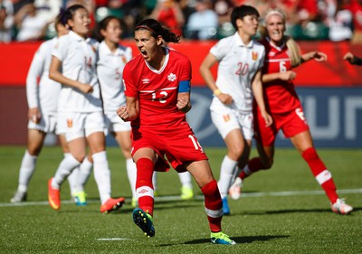 Canada Christine Sinclair (12) scores on China during the second half of a FIFA Women's World Cup Canada 2015 match between Canada and China at Commonwealth Stadium in Edmonton, Alta., on Saturday June 6, 2015. Canada won 1-0. Ian Kucerak/Edmonton Sun/Postmedia Network