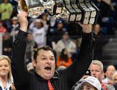 D.J. Smith recently won the Memorial Cup as coach with the Oshawa Generals. (AFP)