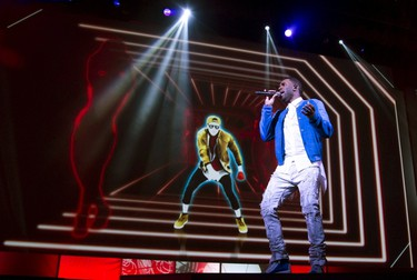 """Singer Jason Derulo performs during a presentation for the video game """"Just Dance"""" at the Ubisoft E3 conference at the Orpheum theatre in Los Angeles June 15, 2015.  REUTERS/Mario Anzuoni"""