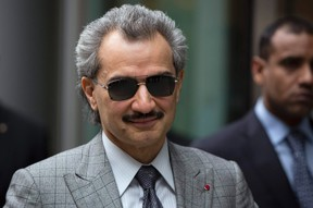 Prince Alwaleed bin Talal is seen leaving the High Court in London in this July 2, 2013 file photograph. (REUTERS/Neil Hall/Files)