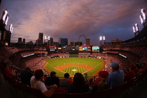 A general view of Busch Stadium during a game between the St. Louis Cardinals and the Detroit Tigers on May 17, 2015 in St. Louis, Missouri. (Dilip Vishwanat/Getty Images/AFP)