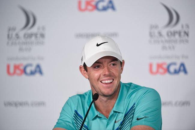 Rory McIlroy addresses the media in a press conference during practice rounds on June 16, 2015, at Chambers Bay in University Place, Wash. (JOHN DAVID MERCER/USA TODAY Sports)