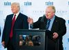 Then Toronto Mayor Rob Ford, right, speaks at Donald Trump's ribbon cutting ceremony of the Trump International Hotel and Tower in Toronto April 16, 2012.  (Ernest Doroszuk/Toronto Sun)