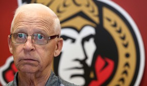 Ottawa Senators General Manager Bryan Murray talks to the media at Canadian Tire Centre in Ottawa Ont. Thursday June 18, 2015. Murray was available to the media to talk about the upcoming NHL draft. Tony Caldwell/Ottawa Sun/Postmedia Network