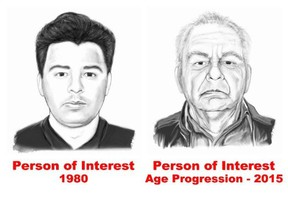Age-advanced sketch of person of interest in April 24, 1980 slaying of Brinks guard Larry Roberts.