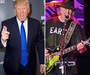Donald Trump and Neil Young (WENN.COM)