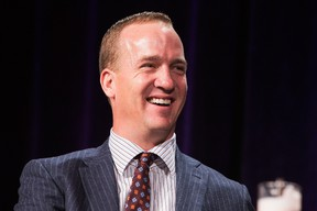 Peyton Manning attends the Super Bowl Breakfast where he received the Bart Starr award at JW Marriott Desert Ridge Resort & Spa on January 30, 2015 in Phoenix, Arizona. Jerritt Clark/Getty Images for Super Service Challenge/AFP