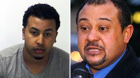 Muhab Sultan (left) is wanted for second-degree murder in the killing of Jeremy Cook in London, Ont. His father, Sultan Sultan, is appealing for his son to turn himself in to police. (Postmedia Network)