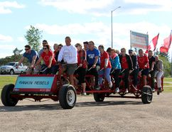 The Rankin Rebels took to the streets in the Big Bike in support of the Heart and Stroke Foundation, raising over $2,600.