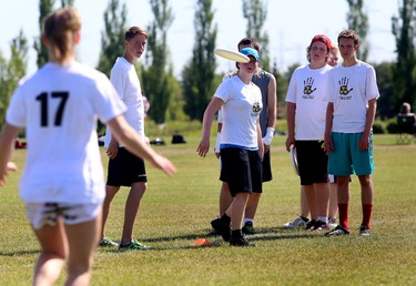 Team Fallout practice extreme Frisbee at the grand opening of the Ivor Dent Sports Park on Saturday, June 27, 2015 in Edmonton, AB. Trevor Robb/Edmonton Sun/Postmedia Network
