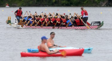 North America's largest dragon boat festival took place at Mooney's Bay in Ottawa Sunday June 28, 2015. Thousands of paddlers took part in the festival raising money for local charities. The Tim Hortons Dragon Boat Festival started in 1994 and this year has over 5,000 paddlers. Tony Caldwell/Ottawa Sun/Postmedia Network