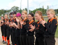 The 2015 14U Tigers Hills Softball League Champions were the Bruxelles Tigers who defeated both Winkler teams 13-3 and 6-0 before knocking off Altona 5-1 in the finals. (GREG VANDERMEULEN/Winkler Times)
